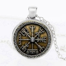 Norse Viking Cross in Rune Circle Pendant