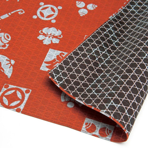 Furoshiki double face trésor | Orange et Marron
