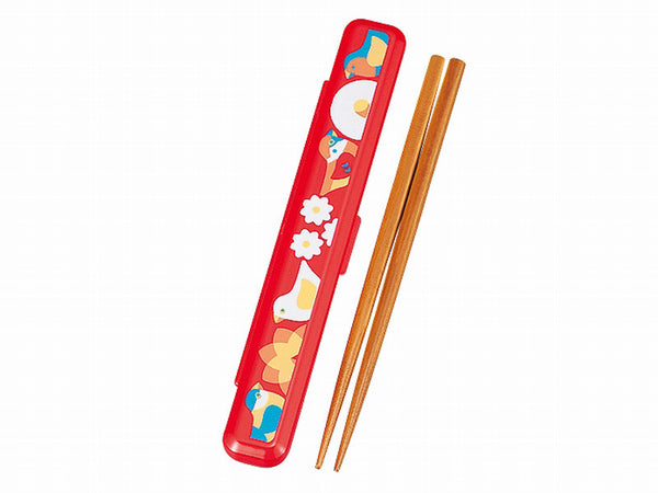 Kotoritachi Forest Chopsticks Set | Red