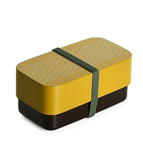 Bento Rectangle Asa No Ha | Jaune par  Sabu Hiromori - Bento&co - La boutique spécialiste du Bento, en direct de Kyoto