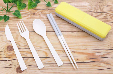 GO OUT Cutlery | Jaune primevère