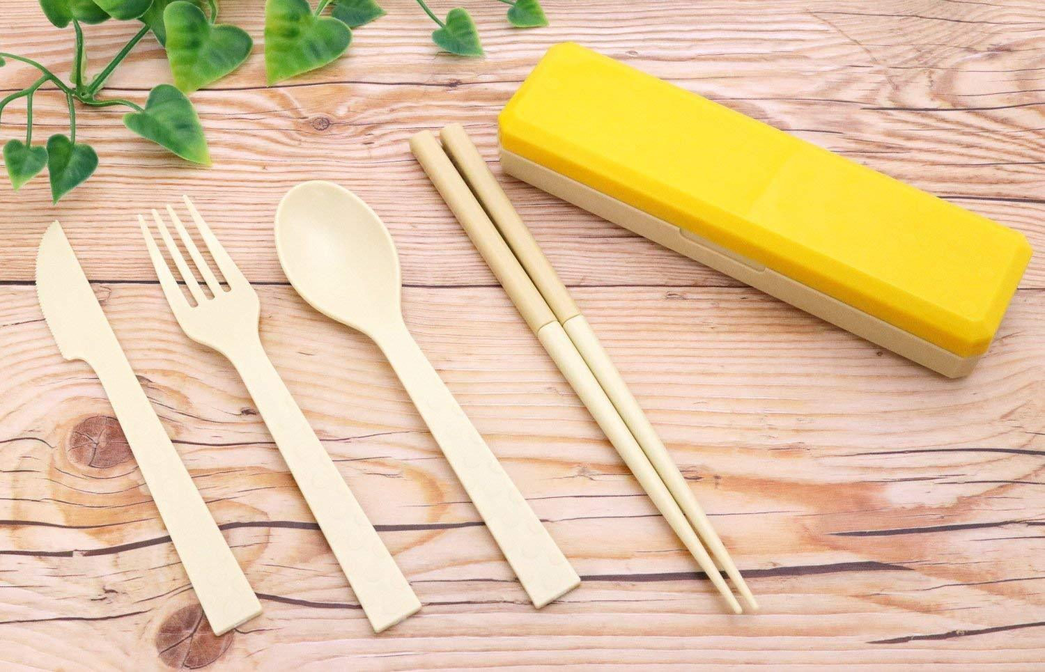 GO OUT Cutlery | Jaune Moutarde