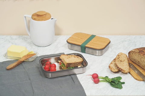Black+ Blum Stainless Steel Sandwich Box | Olive