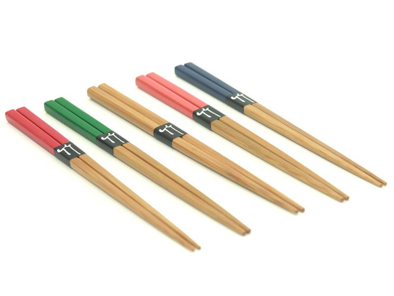 Colorful Bamboo Chopsticks 18cm | Neutral by Yamaki - Bento&co Japanese Bento Lunch Boxes and Kitchenware Specialists