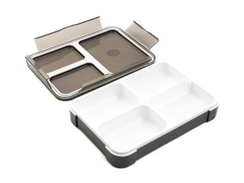 Foodman Thin Lunch box | Gris par  CB Japan - Bento&co - La boutique spécialiste du Bento, en direct de Kyoto