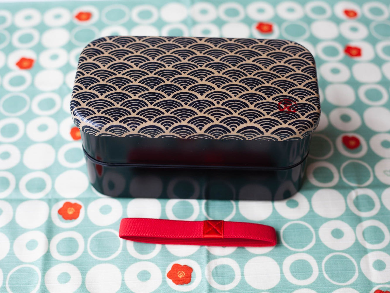 Boîte à bento Wafu Rectangle | Ocean Wave L par  Hakoya - Bento&co - La boutique spécialiste du Bento, en direct de Kyoto