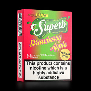 Superb Strawberry Apple Regular NanoPods: 4 x 20mg/1.7%