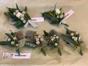Buttonieres and corsages