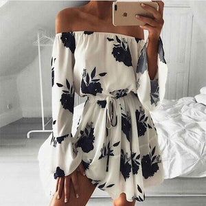 Floral Off The Shoulder Summer Mini Dress - My Chronic Style
