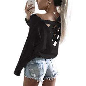 Long Sleeve Casual Top with Beautiful Back Detail - My Chronic Style