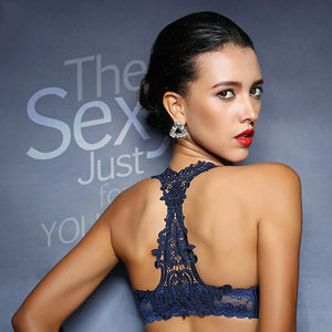 Beautiful Lace Back, Wireless Bra - My Chronic Style