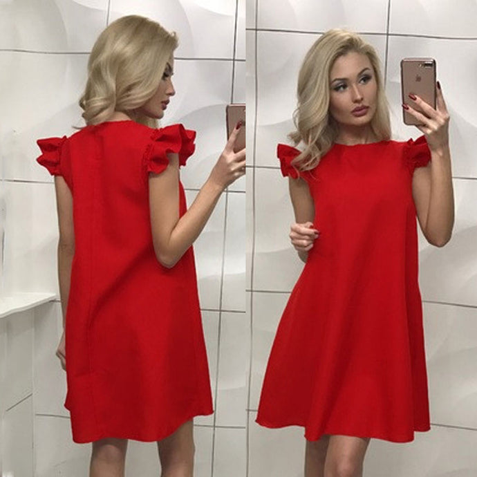 Super Cute, Loose Fitting Evening Dress - Available in Red, Black and White - My Chronic Style