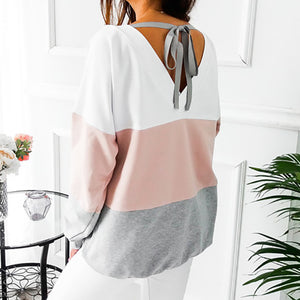 Cute Back Detail Sweatshirt - My Chronic Style