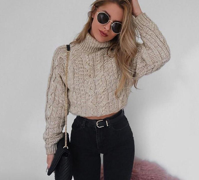 Long Sleeve Cropped Jumper