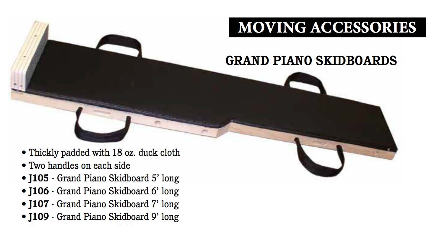 MOVING ACCESSORIES - GRAND PIANO SKIDBOARDS