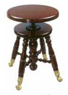 WOOD TOP CLAW FOOT STOOL - J80