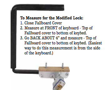 METAL FALLBOARD LOCK