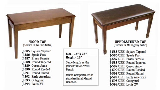 Grand Benches- Wood Top