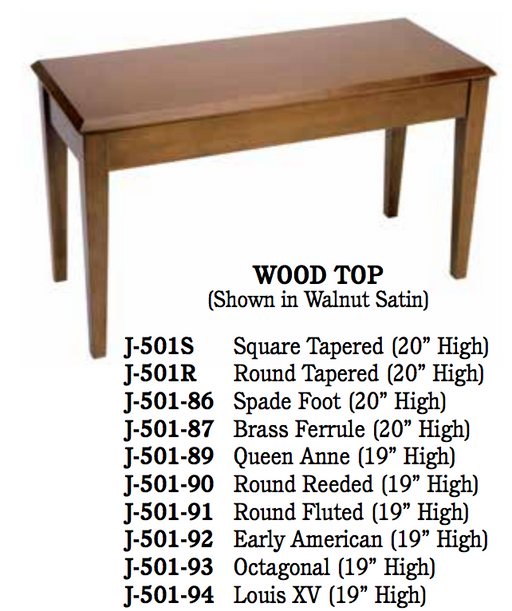 Benches Upright- Wood Top
