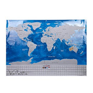 Country Flag Ocean Scratch off Map