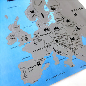 Scratch Off Map Europe