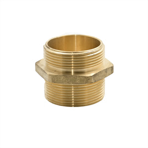 "B36H-25T30T - Adapter 2.5"" Male NPT x 3.0"" Male NPT Brass Hex"