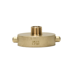 "B37-25Q75G - Reducer 2.5"" Female QST x 3/4"" Male GHT Brass Pin Lug"