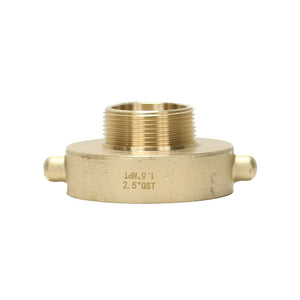 "B37-25Q15T - Reducer 2.5"" Female QST x 1.5"" Male NPT Brass Pin Lug"