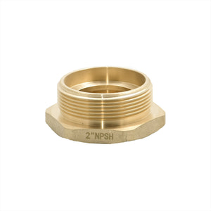 "B37H-20S15T - Reducer 2.0"" Female NPSH x 1.5"" Male NPT Brass Hex"