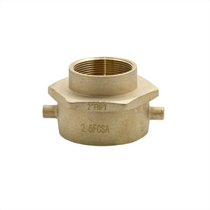 "B53-25C20T - Adapter 2.5"" Fem Swivel Pin Lug CSA x 2.0"" Female NPT Brass"