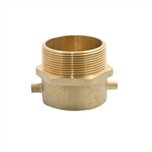 "B54-25C30T - Adapter 2.5"" Fem Swivel Pin Lug CSA x 3.0"" Male NPT Brass"