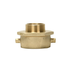 "B54-25Q25T - Adapter 2.5"" Fem Swivel Pin Lug QST x 2.5"" Male NPT Brass"
