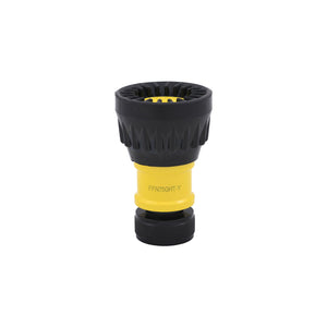 "FFN75GHT-Y - 3/4"" GHT Nozzle with Black Bumper, YELLOW Viz Body"
