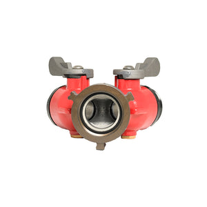"FMBV-15S15S - 1.5"" F Swivel NPSH Inlet x (2) 1.5"" M NPSH Outlet 2 Way Ball Valve"