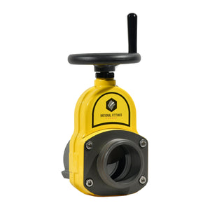 "#HGV250NS-DS-Y - 2.5"" F NSZ1 x 2.5"" M NSz1, Yellow Viz - Heavy Duty - Hydrant Gate Valve"