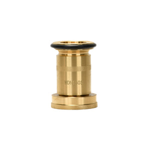 "#WDN-100S - 1.0"" Brass Fog Nozzle, NPSH with Black Bumper"