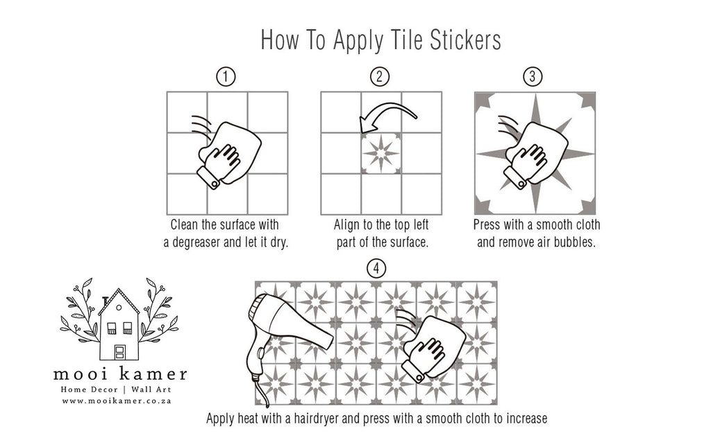 Vinyl | Stick On | Tile | PACK OF 12