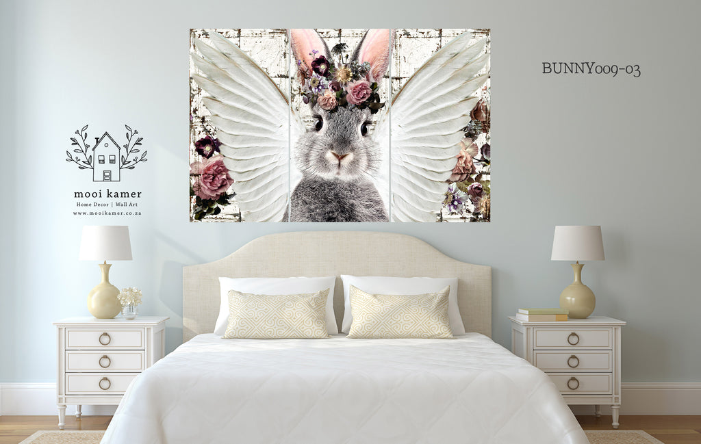 3 Set | Bunny | Floral | Wings | Vintage Tile