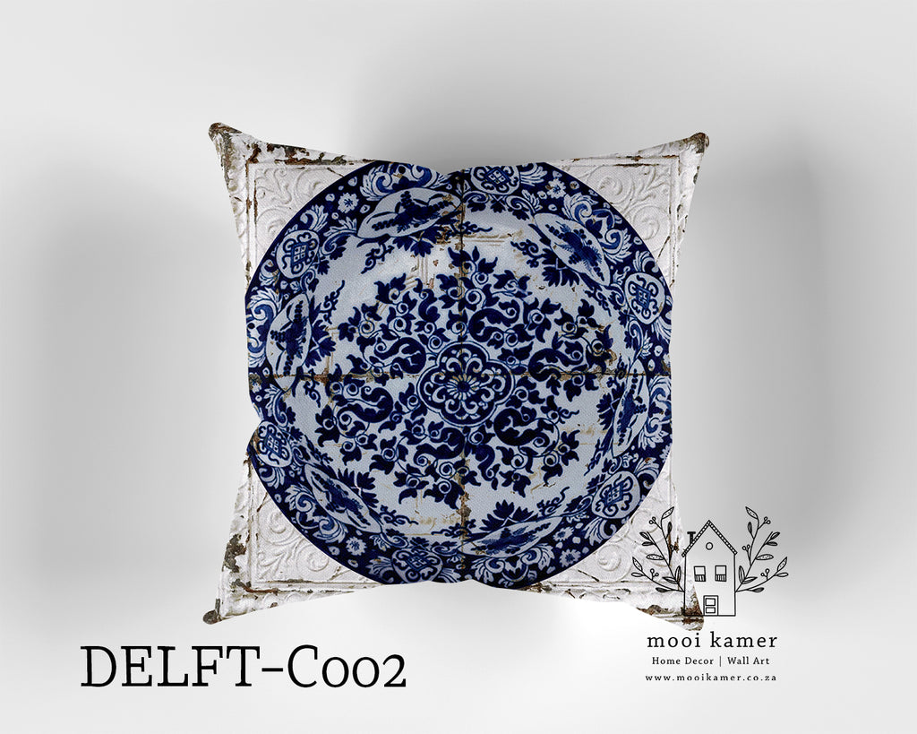Cushion | DELFT | Premium Mock Linen | Inner not Included