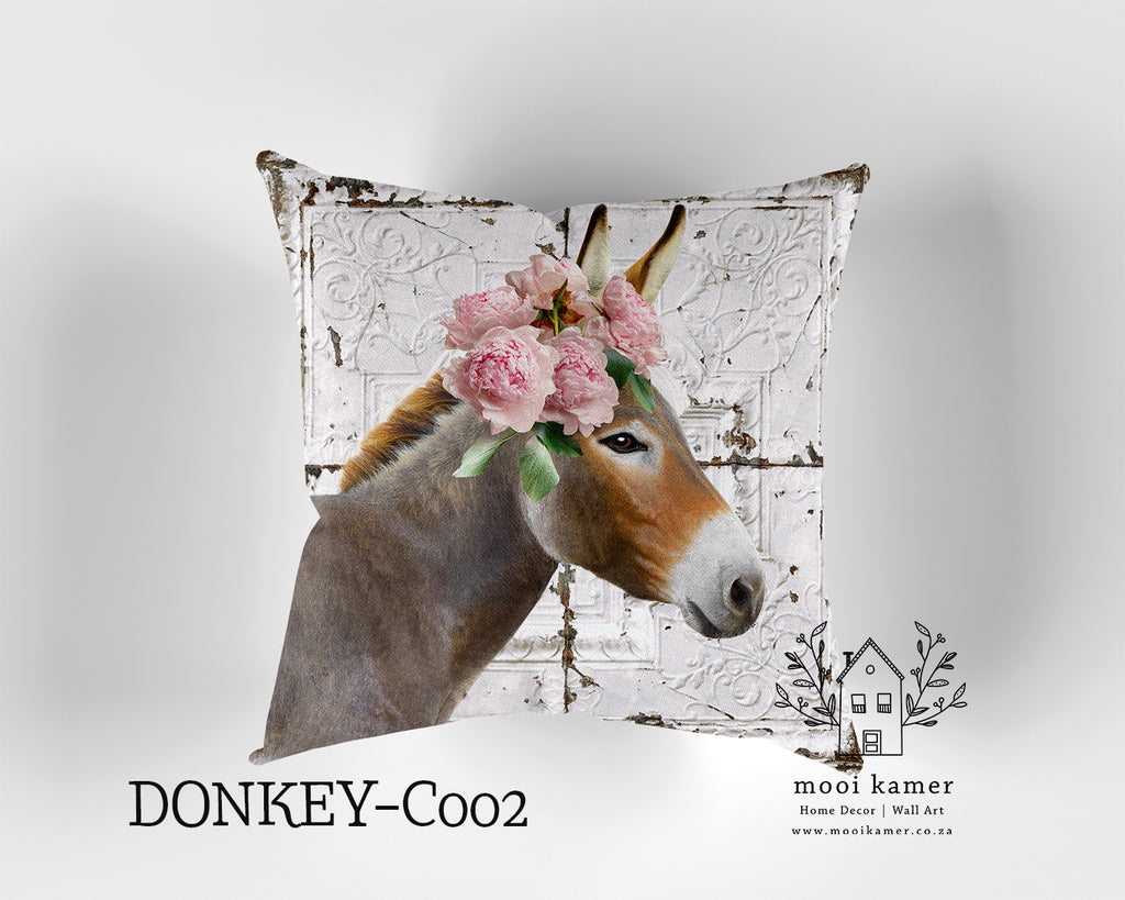 Cushion | DONKEY | Premium Mock Linen | Inner not Included
