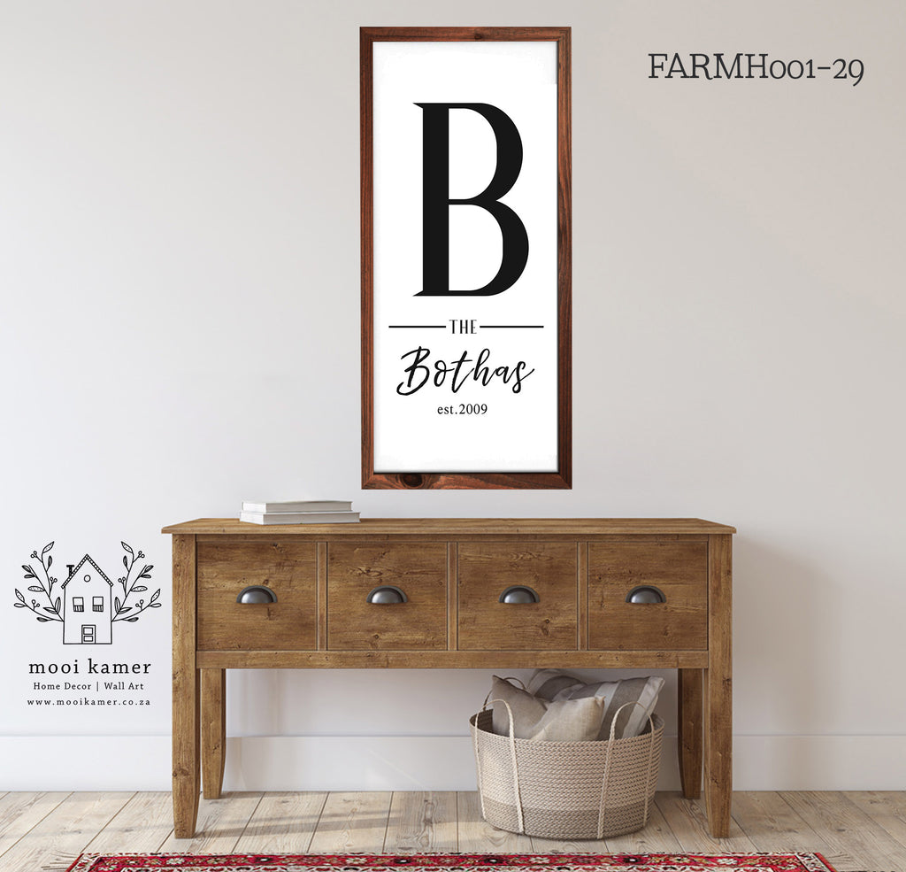 Farmhouse | Established Sign