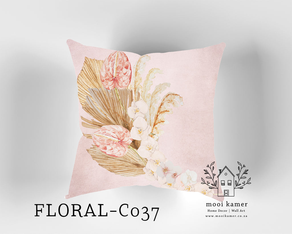 Cushion | FLORAL | Premium Mock Linen | Inner not Included
