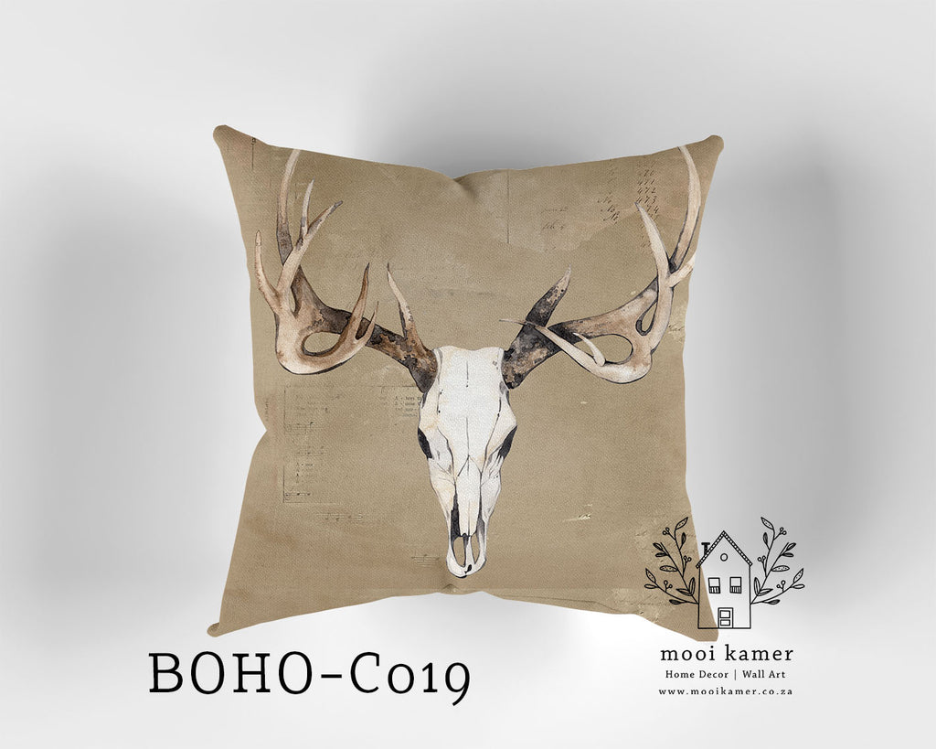 Cushion | SCULL | Premium Mock Linen | Inner not Included