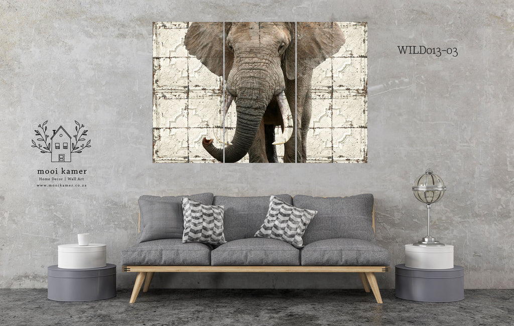 3 Set | Elephant | Vintage Tile