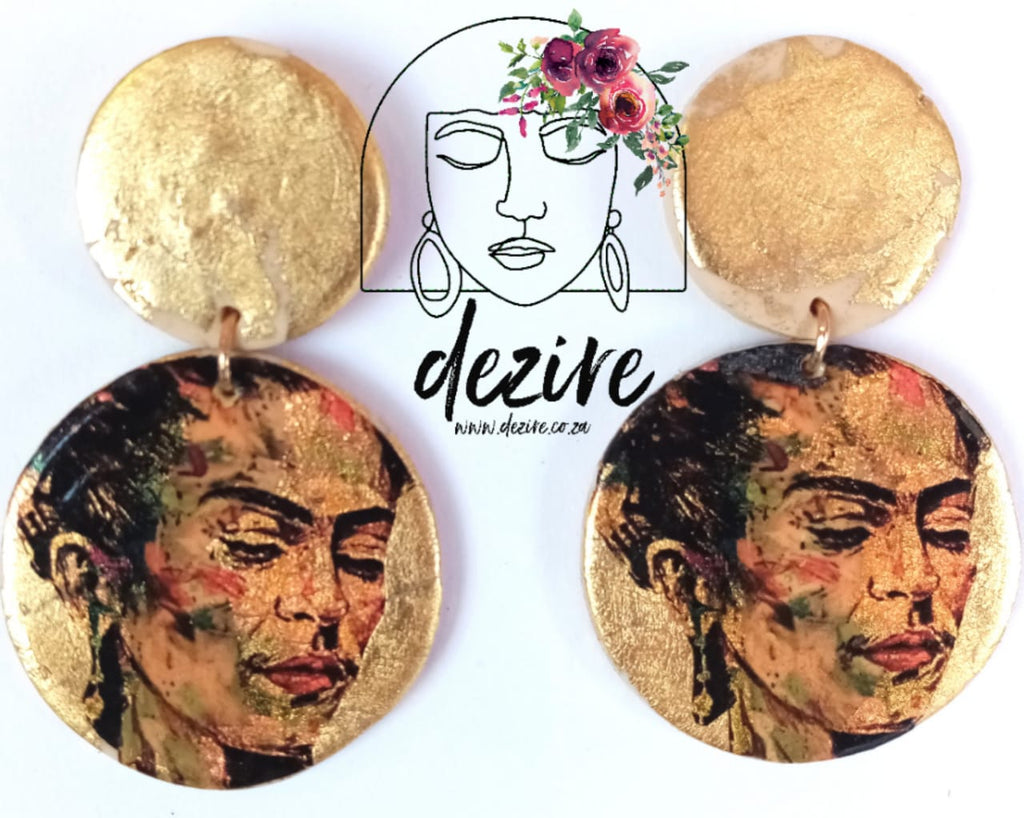 Polymer Clay Earring | Frida