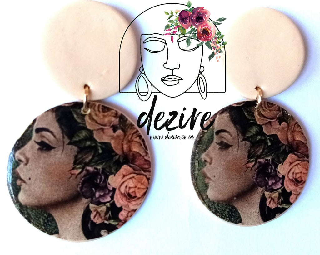 Polymer Clay Earring | Lady