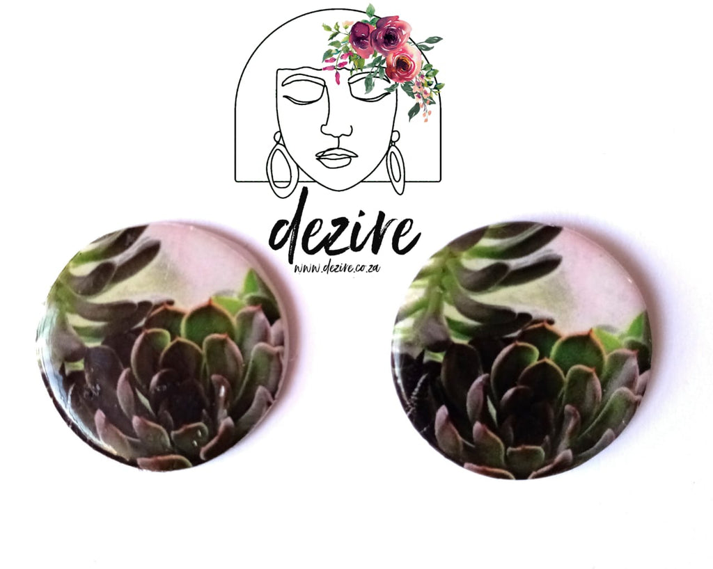 Polymer Clay Earring | Succulent