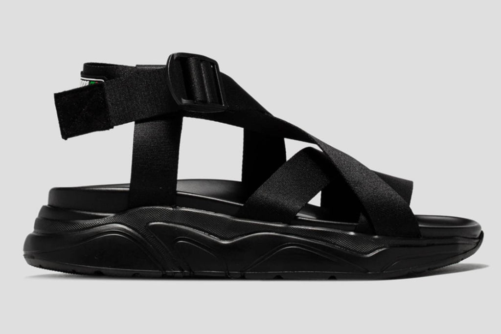 Streetwear 2019 men fashion sandalsCrossed Lacing Sandals by MSGM