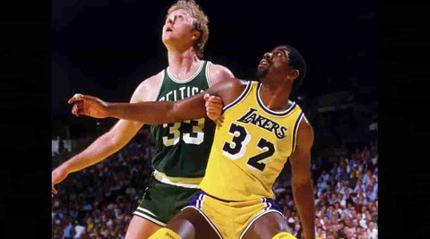 Larry Bird and Magic Johnson NBA 80S