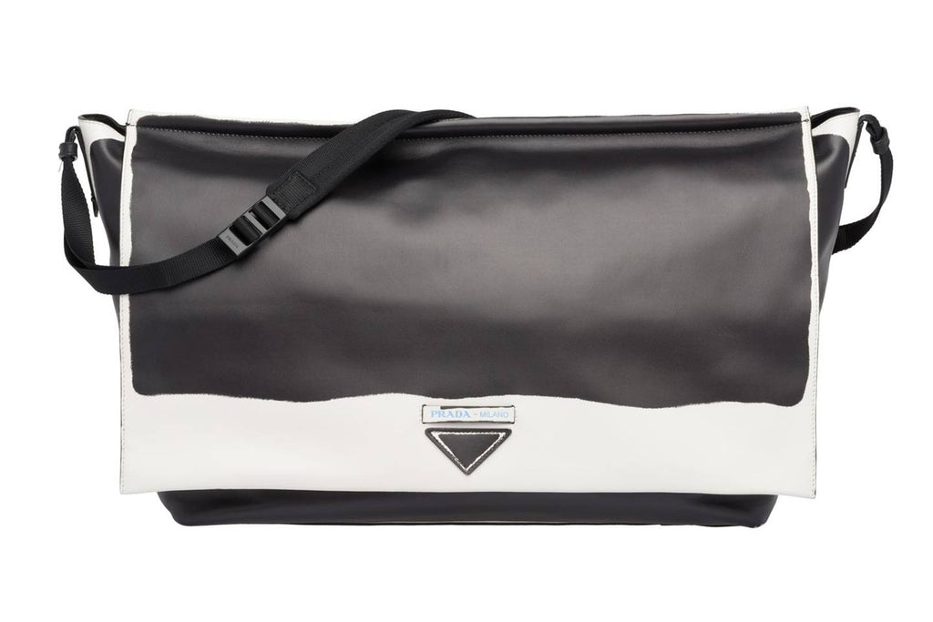 Streetwear 2019 men fashion Leather Shoulder Bag by Prada